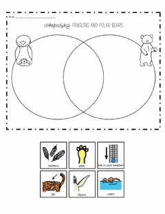 Interactive worksheet Comparing Penguins and Polar Bears