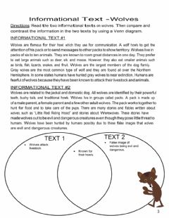Interactive worksheet Compare and Contrast Wolves