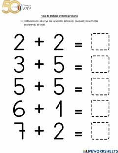 Interactive worksheet Hoja de trabajo 2