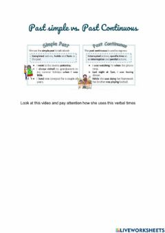 Interactive worksheet Past Continuous