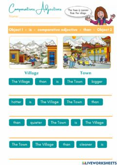 Interactive worksheet Comparatives Adjectives Exercises