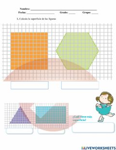 Interactive worksheet Calculo de superficies