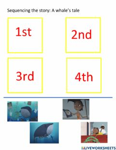 Interactive worksheet A whale's tale drag and drop