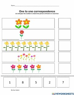 Interactive worksheet One-to-one