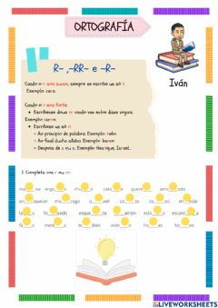 Interactive worksheet Uso do r e rr