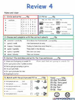 Interactive worksheet Review 4