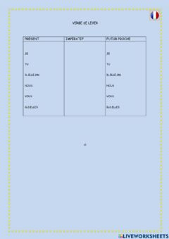 Interactive worksheet Se lever