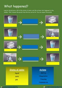 Interactive worksheet Changes in the states of water