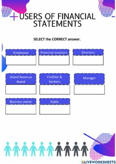 Ficha interactiva Chapter 1-Users of Financial Statements