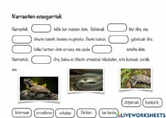 Interactive worksheet Narrastiak