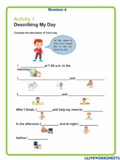 Interactive worksheet My day