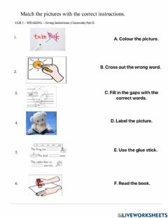 Interactive worksheet Classroom Instructions Part II