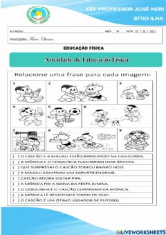 Interactive worksheet Brincadeiras