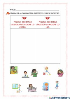 Interactive worksheet Hábitos de higiene