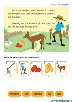 Interactive worksheet Year 2-Phonic-'oe' sound
