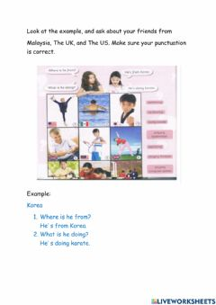 Interactive worksheet English year 4 - Punctuation