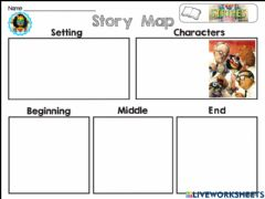 Ficha interactiva A bad case of stripes Story map