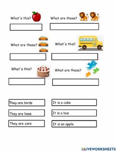 Interactive worksheet This that these those