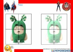 Interactive worksheet Puzle ODDBODS 2