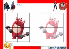 Interactive worksheet Puzle ODDBODS 5