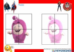 Interactive worksheet Puzzle ODDBODS 0