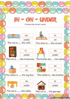 Interactive worksheet My house(Prepositions)