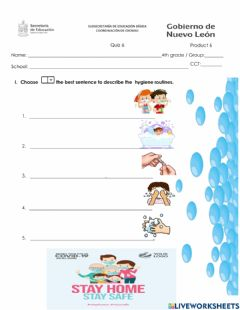 Interactive worksheet 4th grade Product 6