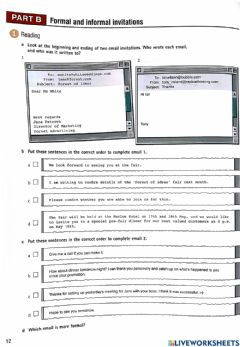 Interactive worksheet Business email
