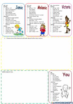 Interactive worksheet Dialy routine