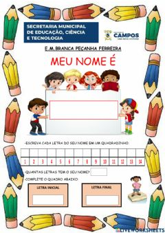 Interactive worksheet Portugues