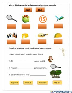 Interactive worksheet Letra q