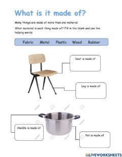 Interactive worksheet Material and Its Properties
