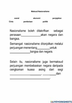 Interactive worksheet Sejarah t4  bab 2.1