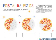 Interactive worksheet Festa da pizza parte I