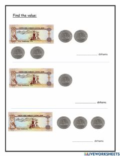 Interactive worksheet Currency