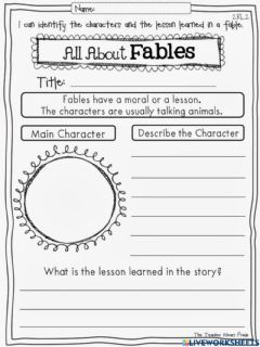 Interactive worksheet All About Fables