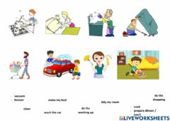 Interactive worksheet Household chores - Drag and Drop