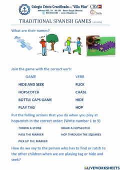 Interactive worksheet Traditional games