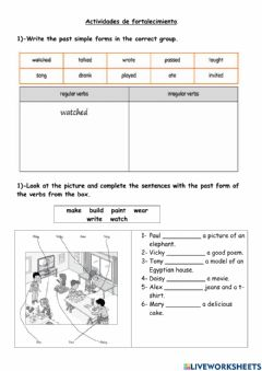 Interactive worksheet Past Simple affirmative