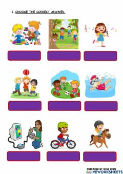 Ficha interactiva English Year 2 Unit 5 Free Time Activities