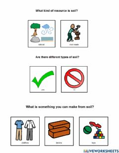 Interactive worksheet Why Do We Need Soil