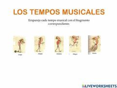 Interactive worksheet Tempo musical