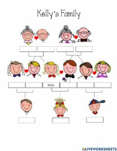 Interactive worksheet Kelly's Family
