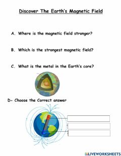 Interactive worksheet Earth Magnetic Field