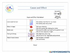 Interactive worksheet Cause & Effect