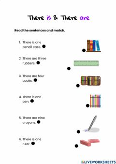 Interactive worksheet There is & There are