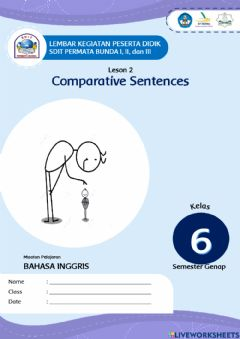 Interactive worksheet Comparative Sentence