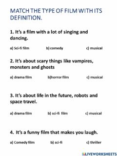 Interactive worksheet Movies