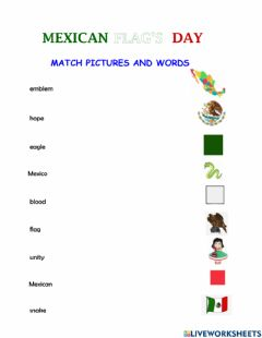 Interactive worksheet Mexican flag's day