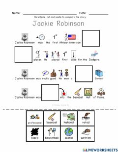 Interactive worksheet Jackie Robinson